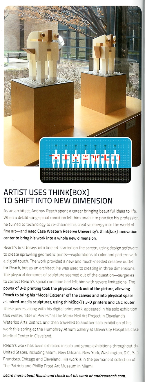 "Case Western Reserve University School of Engineering Annual Report ""Artist Uses ThinkBox To Shift Into New Dimension"
